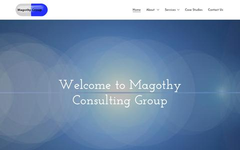 Screenshot of Home Page magothygroup.com - Magothy Consulting Group - Pharmaceutical Consulting, Laboratory - captured Oct. 2, 2018