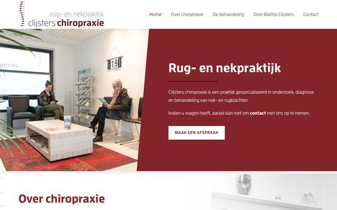 Screenshot of Home Page clijsters-chiropraxie.be - Rug- en nekpraktijk - Clijsters chiropraxie BVBA - captured July 18, 2018