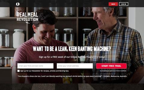 Screenshot of Signup Page realmealrevolution.com - Start For Free | Real Meal Revolution - captured Nov. 25, 2015