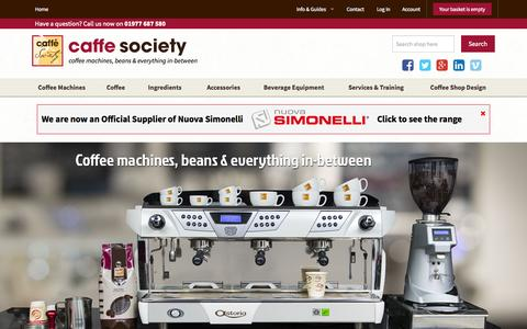 Screenshot of Home Page caffesociety.co.uk - Caffe Society: Coffee Machines, Beans and Everything In-Between - captured July 3, 2015
