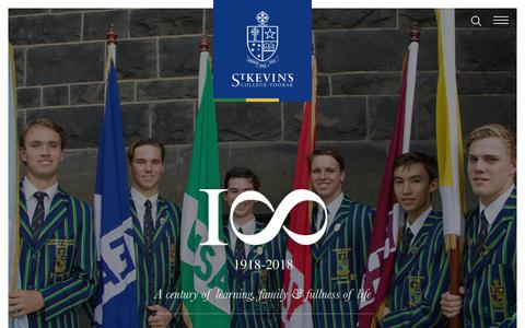 Screenshot of Home Page stkevins.vic.edu.au - Homepage | St Kevin's College - captured Oct. 20, 2018