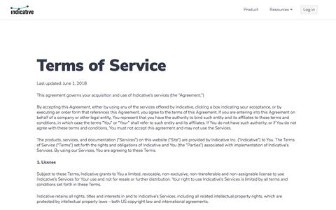 Indicative » Terms of Service