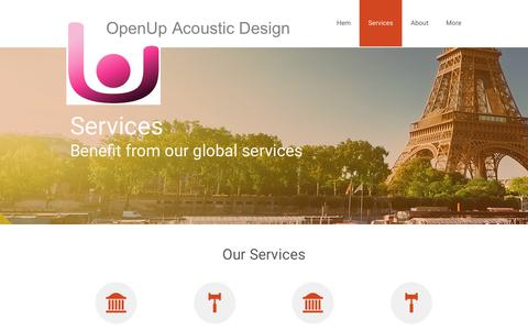 Screenshot of Services Page openup.se - Services - captured Oct. 20, 2017