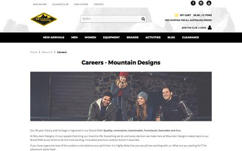 Screenshot of Jobs Page mountaindesigns.com - Careers - Mountain Designs - captured Oct. 13, 2017