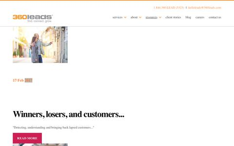 Screenshot of Press Page 360leads.com - Articles | 360 Leads - captured Feb. 14, 2020