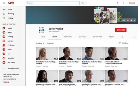 BetterWorks - YouTube