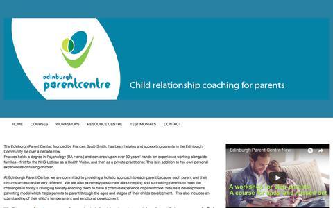 Screenshot of Home Page edinburghparentcentre.com - /home/4594299949 - captured Aug. 8, 2018