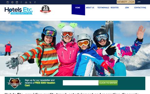 Screenshot of Home Page hotelsetc.com - Best Hotel Deals Online | Last Minutes Vacation Deals | Hotels Etc - captured May 23, 2017
