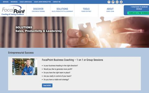 Screenshot of Services Page businesswhitt.com - Solutions - captured June 3, 2017