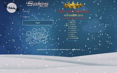 Screenshot of Login Page salesdialers.com - SalesDialers Home :: Create Edit Campaigns on the fly to increase your ROI - captured Dec. 20, 2015