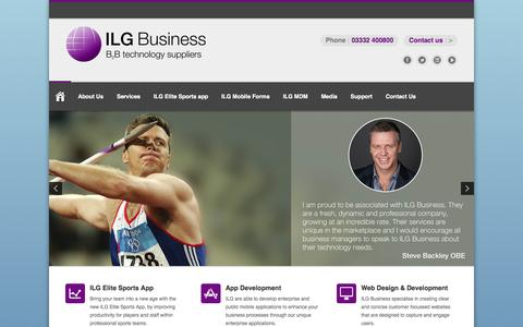 Screenshot of Home Page ilgbusiness.co.uk - ILG Business – B2B Technology Suppliers - B2B Technology Suppliers - captured Sept. 22, 2014