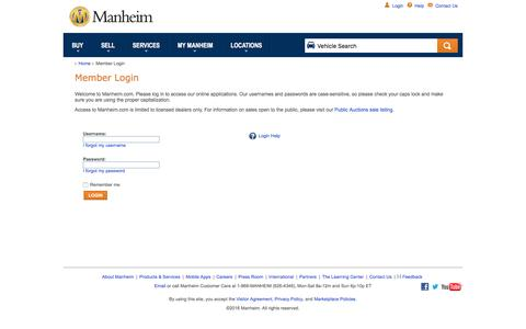 Manheim - Member Login