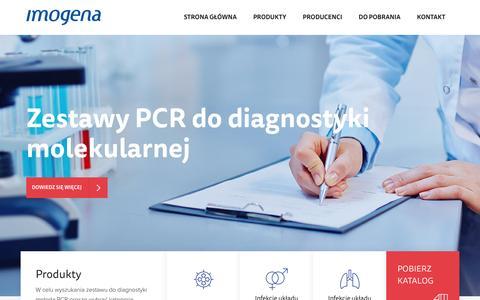 Screenshot of Home Page imogena.pl - Imogena - captured Aug. 5, 2016