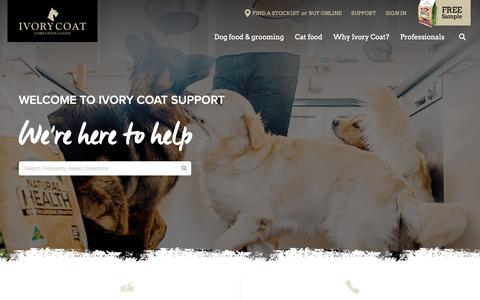 Screenshot of Support Page ivorycoat.com.au - Ivory Coat - Support - captured Oct. 13, 2018