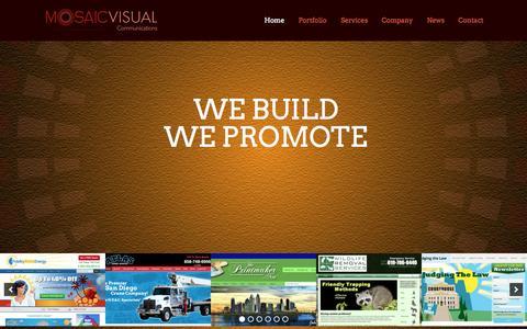 Screenshot of Home Page mosaicvisual.com - Top Web Design Company in San Diego | MosaicVisual - captured Jan. 30, 2015