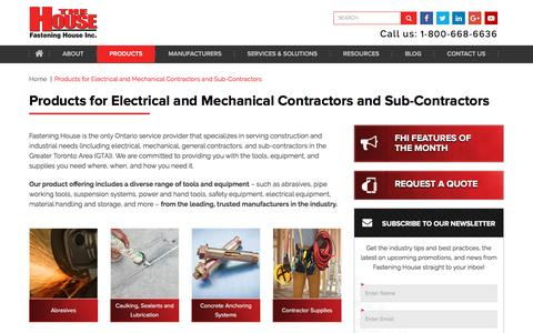 Screenshot of Products Page fasteninghouse.com - Tools, Equipment & Supplies Contractors Trust | Fastening House - captured Nov. 25, 2016