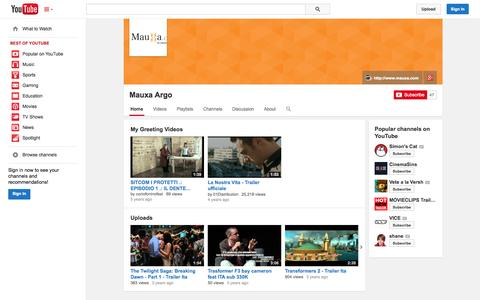 Screenshot of YouTube Page youtube.com - Mauxa Argo  - YouTube - captured Oct. 25, 2014