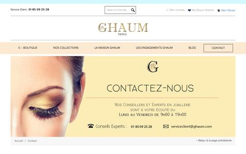 Screenshot of Contact Page ghaum.com - Contact - captured May 14, 2017