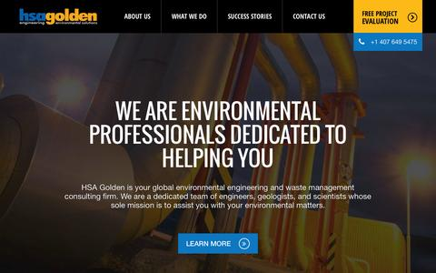 Screenshot of Home Page hsagolden.com - Environmental and Engineering Consultants, Orlando, Florida - captured June 17, 2015