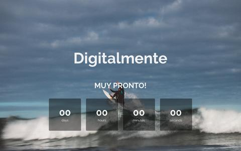 Screenshot of Home Page digitalmente.mx - Digitalmente is coming soon! - captured Oct. 21, 2018