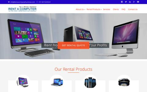 Screenshot of Home Page rentacomputerlucknow.com - Rent A Computer - Servers, Laptops, Computers, Printers & Scanners On Rent - captured Oct. 4, 2017