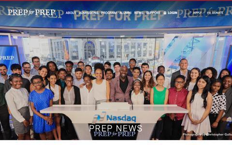 Screenshot of Press Page prepforprep.org - Prep for Prep | Prep News - captured Dec. 8, 2018