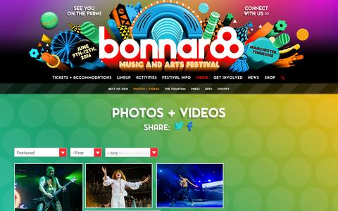 Screenshot of Press Page bonnaroo.com - Bonnaroo 2015 - captured Sept. 29, 2015