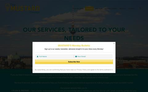Screenshot of Services Page themustardconcept.com - Services – The Mustard Concept - captured Oct. 20, 2018