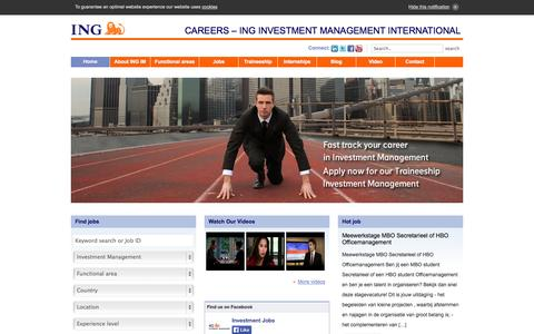 Screenshot of Home Page Jobs Page investment-jobs.com - Investment jobs | ING Investment Management - captured Oct. 10, 2014