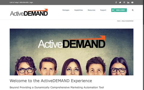 Screenshot of About Page activedemand.com - ActiveDEMAND - The Marketing Automation Company - captured Aug. 12, 2019