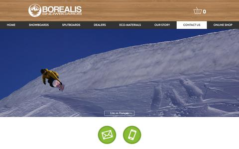 Screenshot of Contact Page borealis-snowboards.com - Borealis Snowboards | Contact Us - captured June 2, 2017
