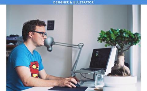 Screenshot of About Page artlambi.be - artlambi – design & illustration › Illustrator - captured May 31, 2017