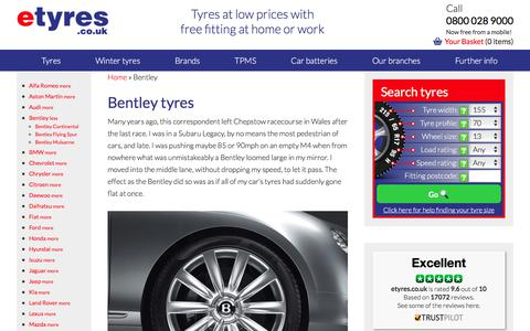 Cheap Bentley Tyres With Free Mobile Fitting - etyres