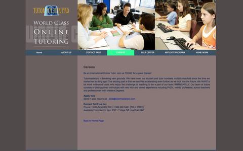 Screenshot of Jobs Page tutormasterpro.com - Careers - captured Dec. 18, 2016