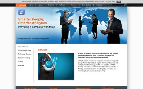 Screenshot of Services Page njwlimited.com - Services | NJW limited, software solutions and workplace services for property and facilities management - captured Oct. 9, 2014