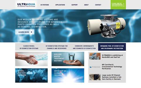 Screenshot of Home Page ultraaqua.com - UltraAqua - captured Nov. 2, 2017