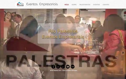 Screenshot of Home Page riopalestras.com - Rio Palestras Eventos - captured Feb. 23, 2016