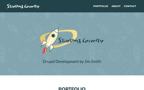 Screenshot of Home Page startinggravity.com - Starting Gravity - captured July 13, 2018