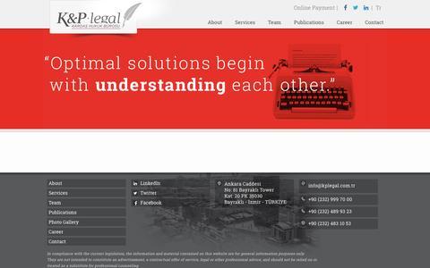Screenshot of Press Page kplegal.com.tr - News - K&P Legal | Global Legal Firm - captured July 19, 2016