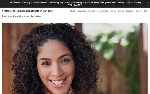 Screenshot of Home Page eddieguydesign.com - Headshots San Jose - Portraits for Professionals, Actors, Models, LinkedIn - captured Sept. 22, 2018
