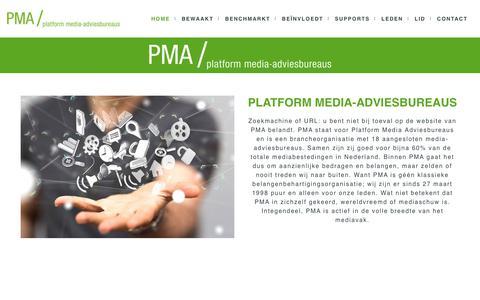 Screenshot of Home Page pma-bureaus.nl - Platform Media-Adviesbureaus - captured Nov. 26, 2017