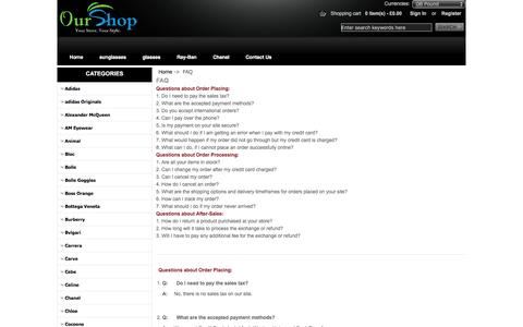 Screenshot of FAQ Page feaseyt.co.uk - FAQ : Outlet Printing Glasses, Online Sunglasses, Sale Lase Glasses - captured Nov. 26, 2016