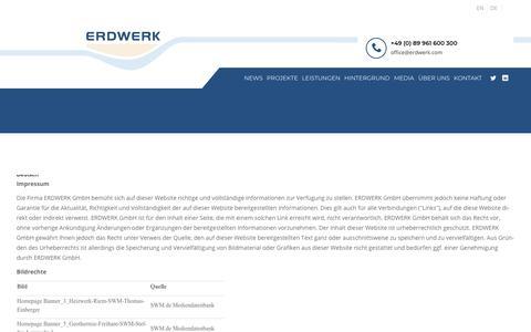 Screenshot of Terms Page erdwerk.com - Terms | ERDWERK GmbH - captured Nov. 4, 2018