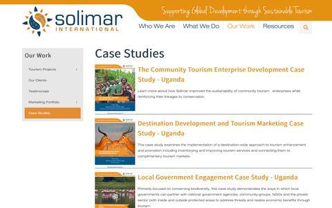 Screenshot of Case Studies Page solimarinternational.com - Case Studies - captured Sept. 23, 2014