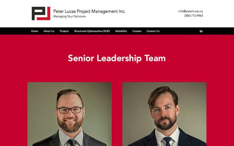Screenshot of About Page peterlucas.ca - About Us | Peter Lucas Project Management Inc. - captured July 28, 2017