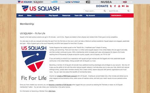 Screenshot of Signup Page ussquash.com - US SQUASH   |  Membership - captured Sept. 24, 2014