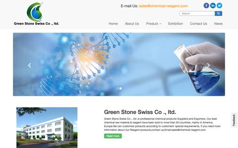 Screenshot of Home Page chemical-reagent.com - Lab Chemical Reagent,Chemical products,Chemical raw material & Reagent products manufacturing from Green Stone - captured Oct. 30, 2018
