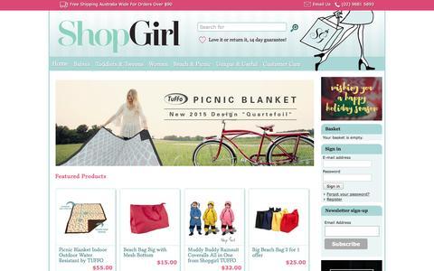 Screenshot of FAQ Page shopgirl.com.au - Picnic Blankets, Beach & Tote Bags - Baby Clothes & Gifts   Shopgirl - captured Dec. 21, 2015