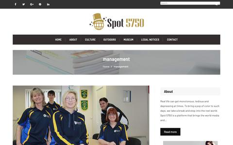 Screenshot of Team Page spot5750.com - management – Spot 5750 | Restaurant,Lounges & cinemas – Los-Angeles - captured Oct. 18, 2018