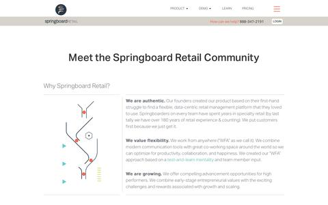 Screenshot of Team Page springboardretail.com - Our Team | Springboard Retail - captured Feb. 7, 2019